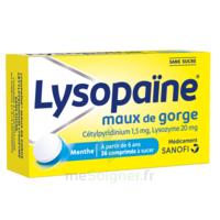 LysopaÏne Comprimés à Sucer Maux De Gorge Sans Sucre 2t/18 à Vélines