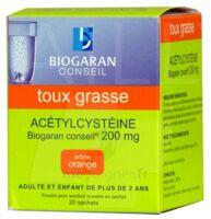 ACETYLCYSTEINE BIOGARAN CONSEIL 200 mg Pdr sol buv en sachet B/20 à Vélines