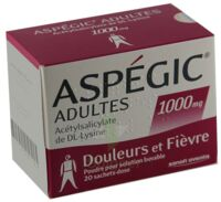 Aspegic Adultes 1000 Mg, Poudre Pour Solution Buvable En Sachet-dose 15 à Vélines