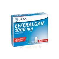 Efferalgan 1000 mg Comprimés pelliculés Plq/8 à Vélines