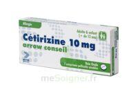 CETIRIZINE ARROW CONSEIL 10 mg, comprimé pelliculé sécable à Vélines