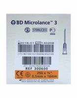 Bd Microlance 3, G25 5/8, 0,5 Mm X 16 Mm, Orange  à Vélines
