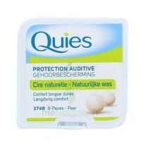 QUIES PROTECTION AUDITIVE CIRE NATURELLE 8 PAIRES à Vélines