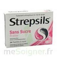 STREPSILS FRAISE SANS SUCRE, pastille édulcorée à l'isomalt, au maltitol et à la saccharine sodique à Vélines