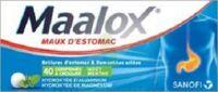 MAALOX HYDROXYDE D'ALUMINIUM/HYDROXYDE DE MAGNESIUM 400 mg/400 mg Cpr à croquer maux d'estomac Plq/40 à Vélines