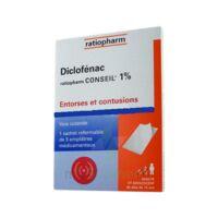 DICLOFENAC RATIOPHARM CONSEIL 1 %, emplâtre médicamenteux à Vélines