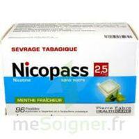 Nicopass 2,5 mg Pastille menthe fraîcheur sans sucre Plq/96 à Vélines