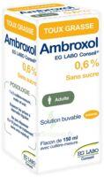 Ambroxol Eg Labo Conseil 0,6 %, Solution Buvable à Vélines