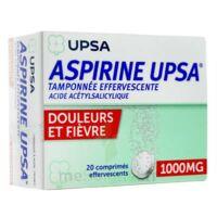 ASPIRINE UPSA TAMPONNEE EFFERVESCENTE 1000 mg, comprimé effervescent à Vélines