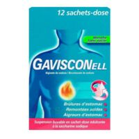 GAVISCONELL Suspension buvable sachet-dose menthe sans sucre 12Sach/10ml à Vélines