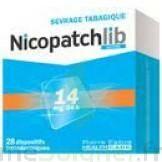 NICOPATCHLIB 14 mg/24 h Dispositifs transdermiques B/28 à Vélines